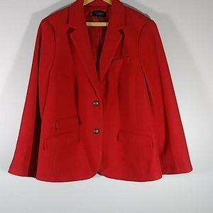 TALBOTS Red wool blend blazer Sz  WP